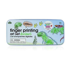 Fingerprinting tin with booklet - Dinosaurs - stamptastic-uk