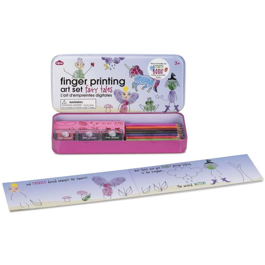 Fingerprinting tin with booklet - Fairy Tales