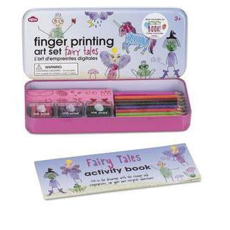 Fingerprinting tin with booklet - Fairy Tales - stamptastic-uk