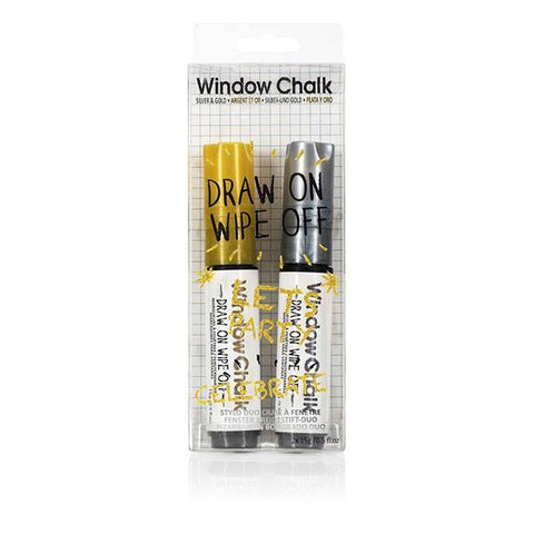 Window Chalk Duo Silver & Gold