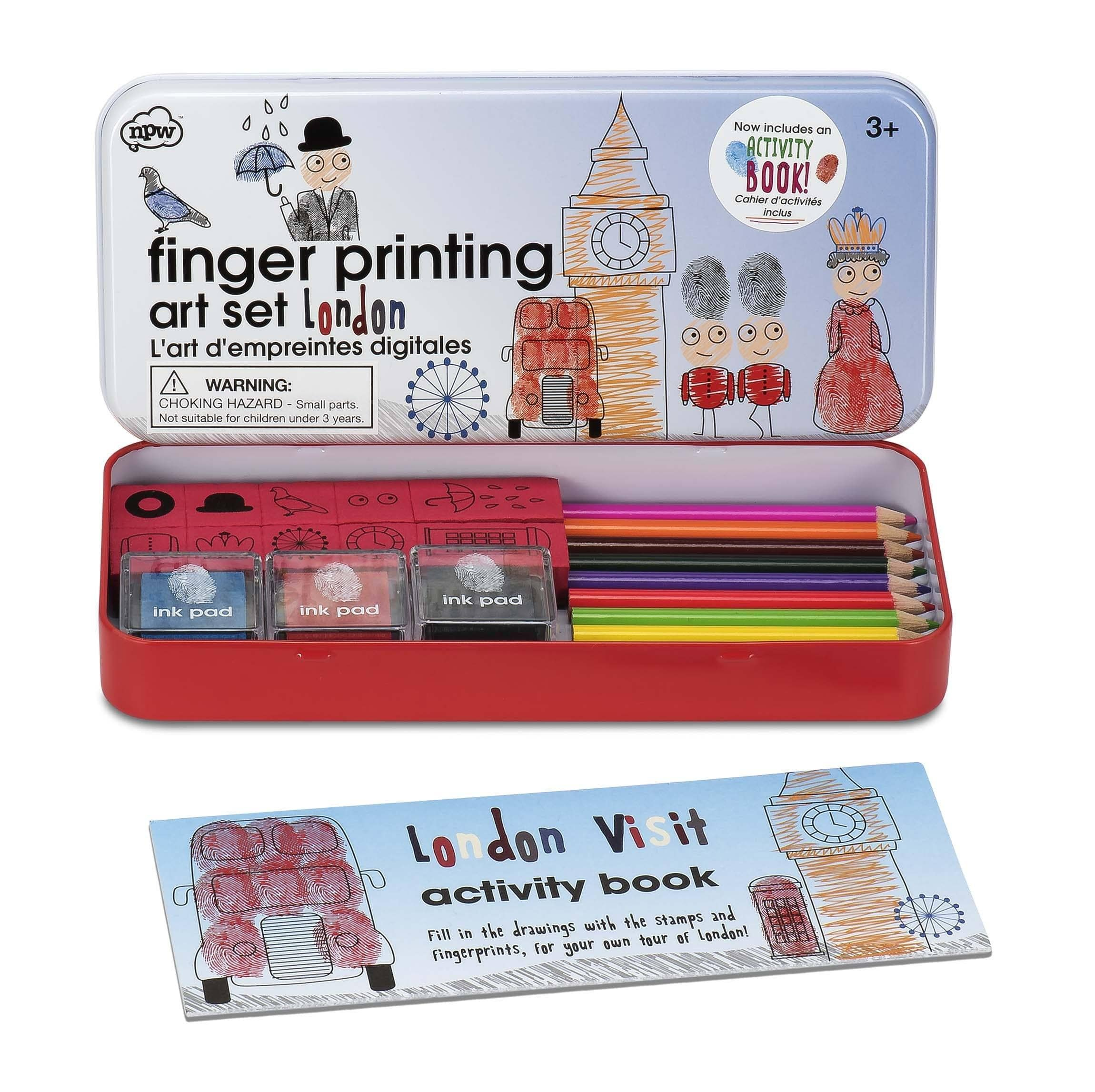 Fingerprinting tin with booklet - London - discontinued - stamptastic-uk