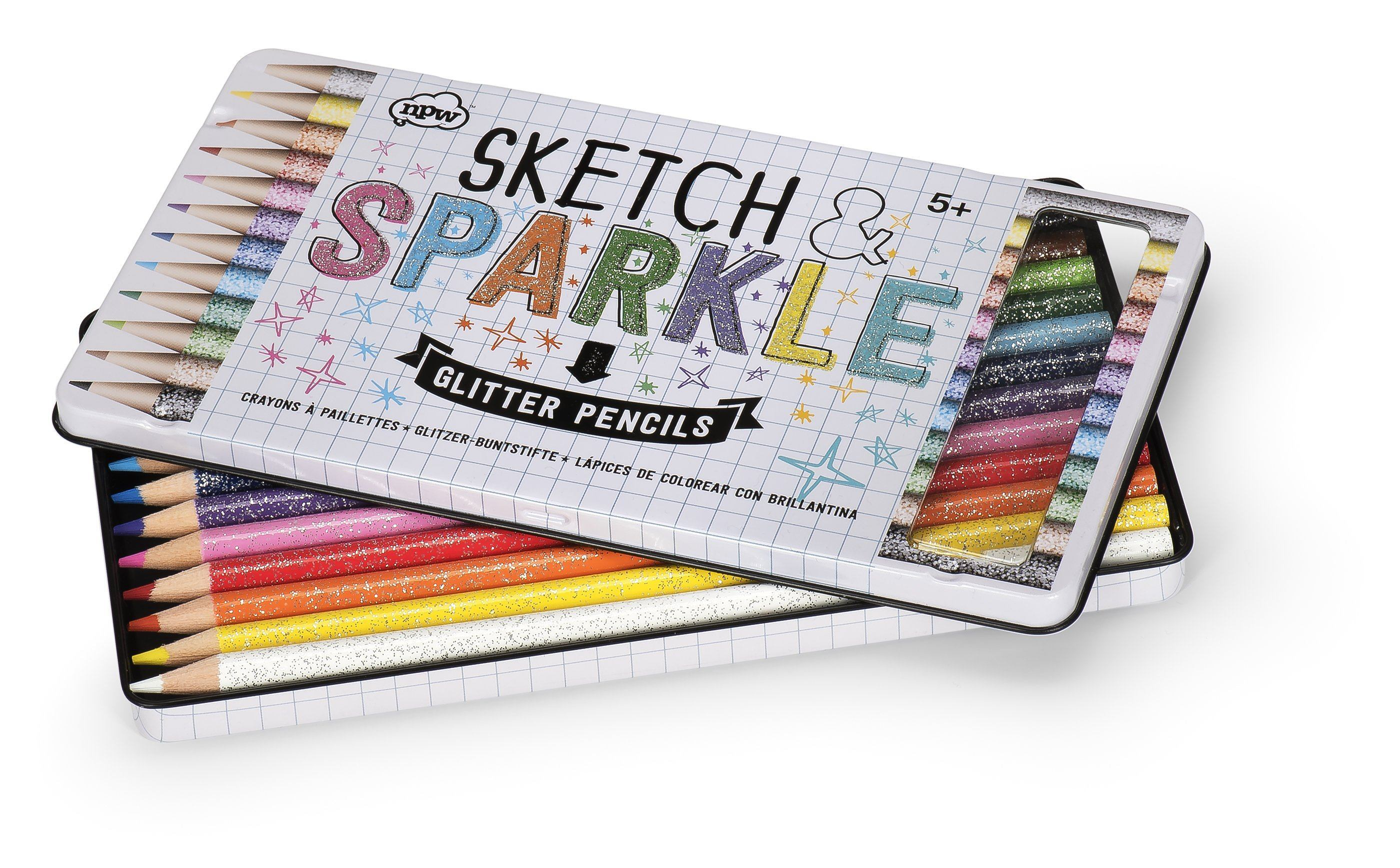 Sketch & Sparkle glitter pencils