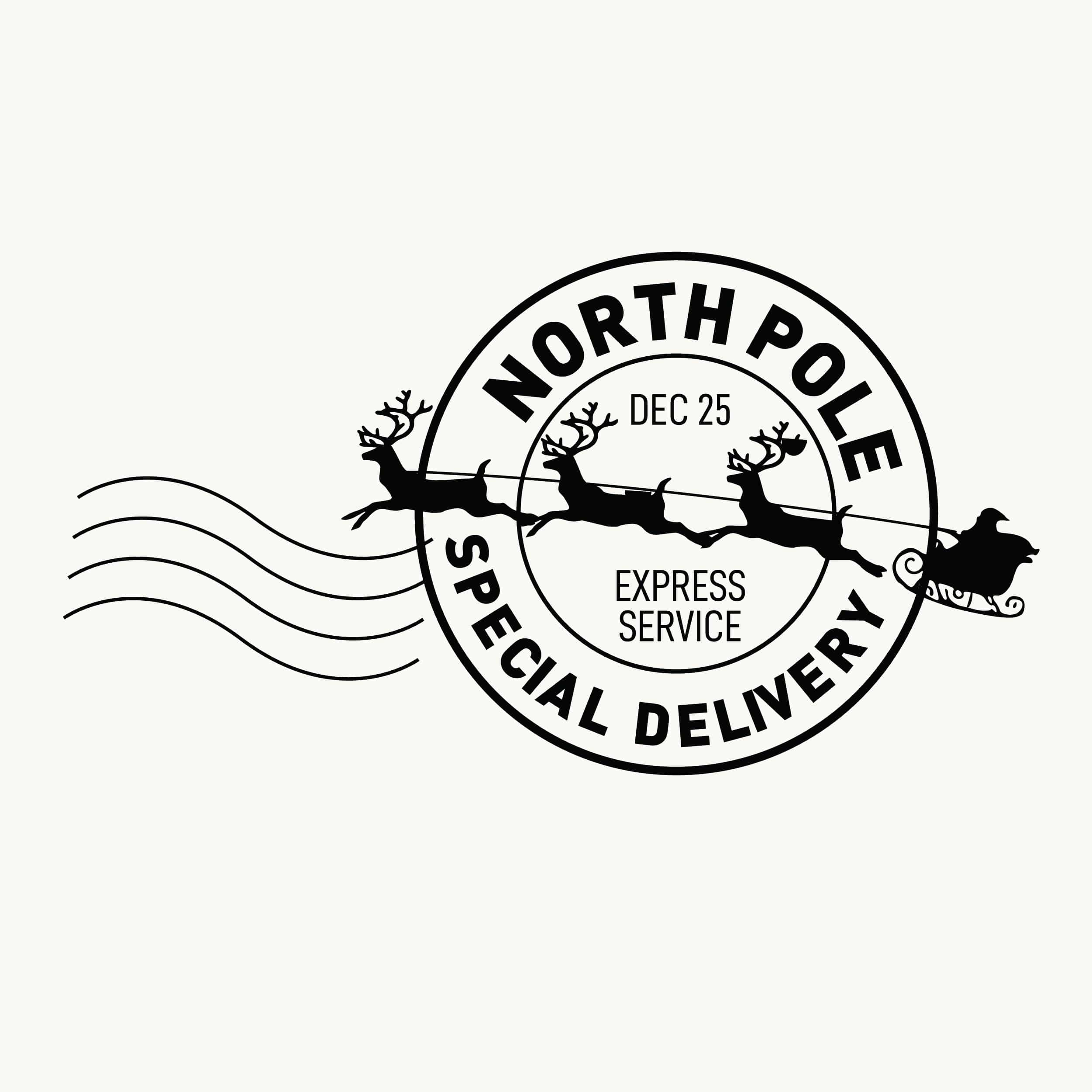 North Pole Stamp - Special Delivery - stamptastic-uk