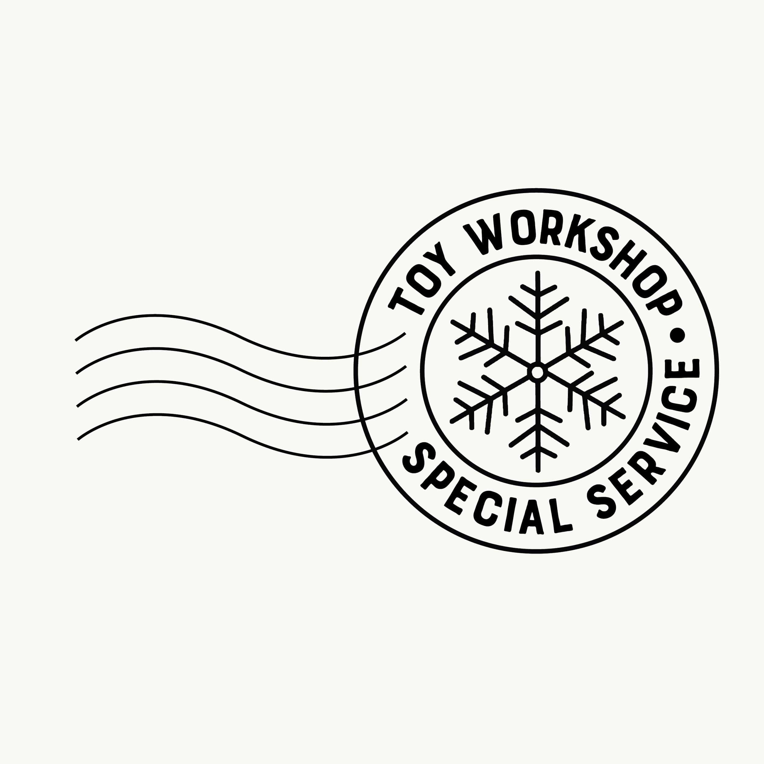 North Pole Stamp - Toy Workshop - stamptastic-uk