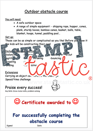 Starting School Free Resource: Outdoor Obstacle Course - stamptastic-uk