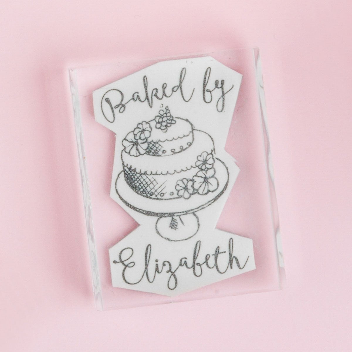 Baked by Stamp - Cake - stamptastic-uk