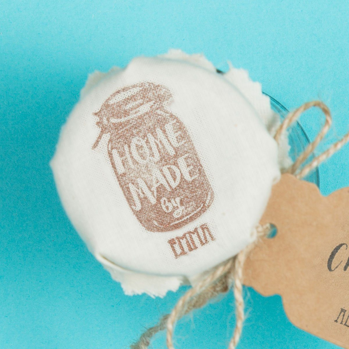 Homemade Jar of Goodies Stamp - stamptastic-uk