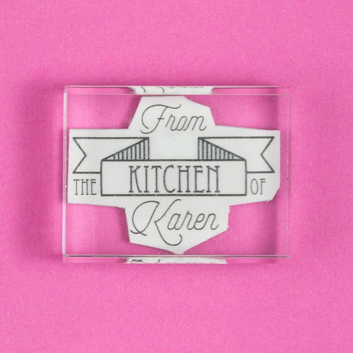 From the Kitchen of ..... Flag Stamp - stamptastic-uk
