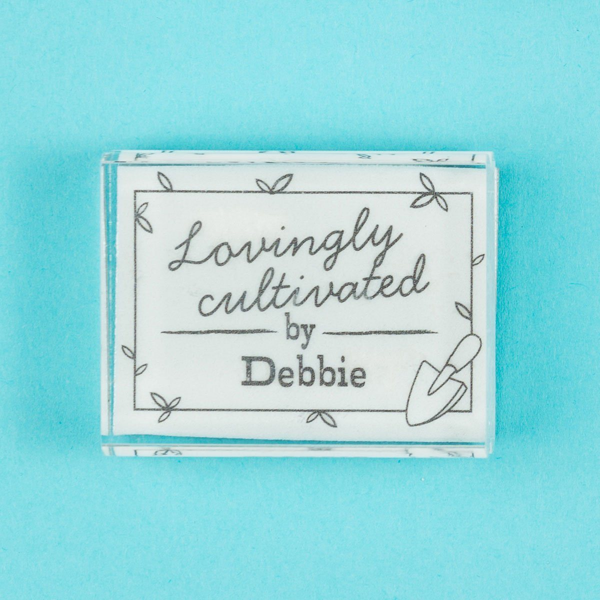 Lovingly Cultivated by....... Stamp