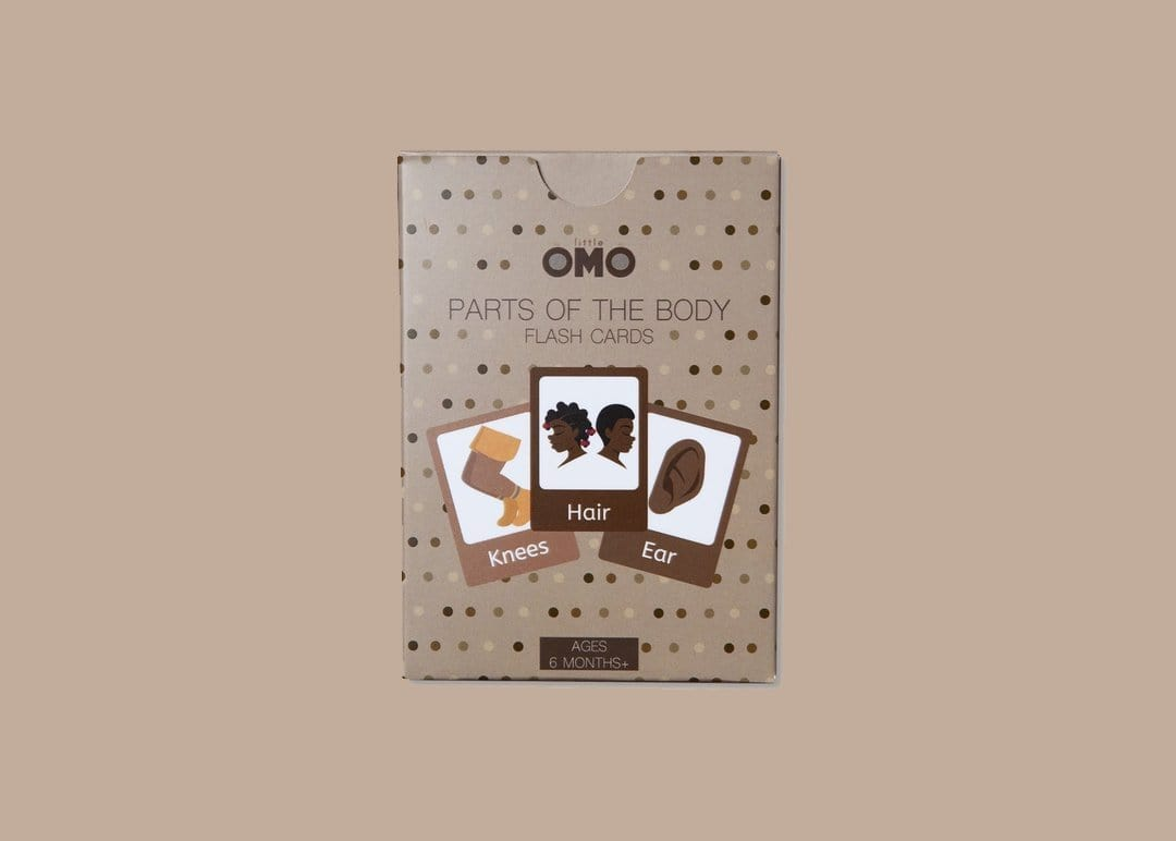 Little Omo Parts of the body flashcards - stamptastic-uk