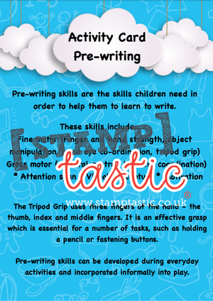 Starting School Free Resource: Pre Writing Skills Activity Card - stamptastic-uk