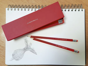 12 Red Personalised Lead Pencils in a Red Box - stamptastic-uk