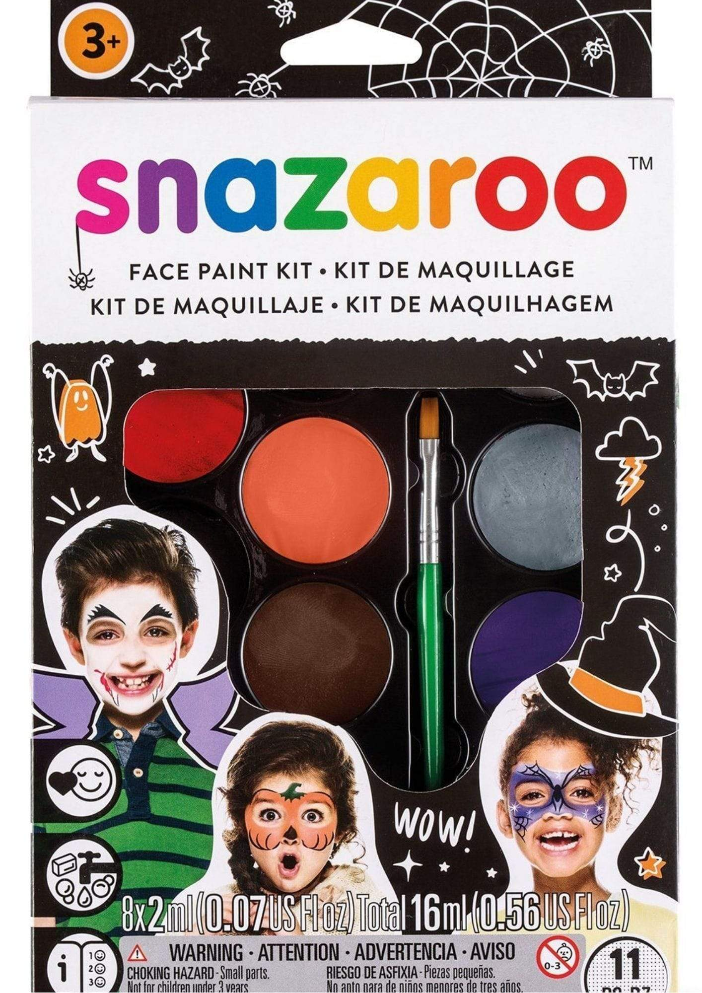 "Snazaroo Facepainting ""Halloween"" Kit - stamptastic-uk"