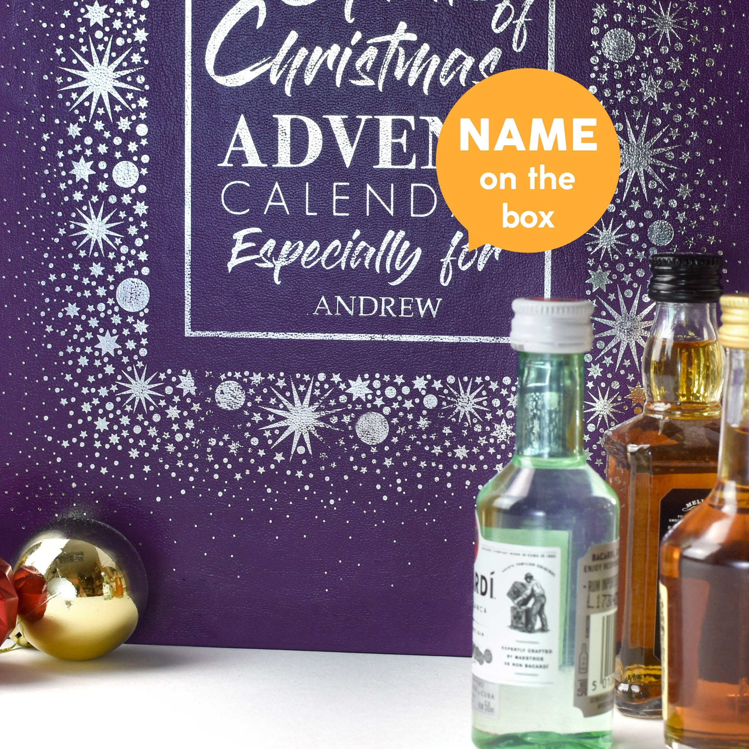 Personalised Mixed Spirits Advent Box - stamptastic-uk