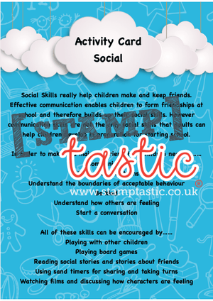 Starting School Free Resource: Social Skills Activity Card - stamptastic-uk
