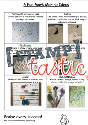 Starting School Free Resource: Mark Making Ideas - stamptastic-uk