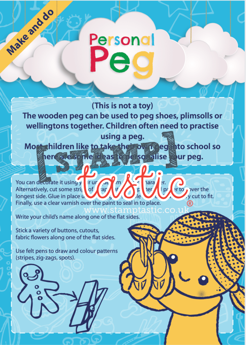 Starting School Free Resource: Personal Peg Activity - stamptastic-uk