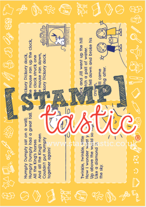 Starting School Free Resource: Rhyming Place Mat - stamptastic-uk