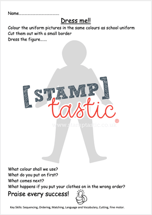 Starting School Free Resource: Learning To Get Dressed Independently (Dress Me) - stamptastic-uk