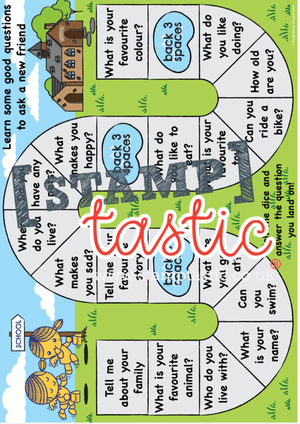 Starting School Free Resource: Social Skills Board Game - stamptastic-uk