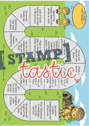 Starting School Free Resource: Sticker Chart - stamptastic-uk
