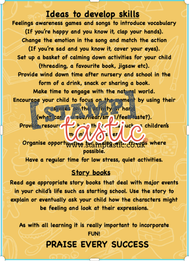 Starting School Free Resource: Self Care and Mental Health Activity Card - stamptastic-uk