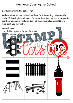 Starting School Free Resource: The School Run Activity Sheet - stamptastic-uk