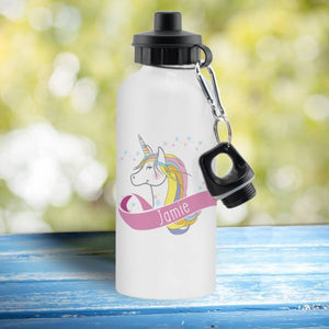 Unicorn Heart White Drinks Bottle - stamptastic-uk
