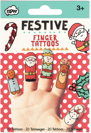 Festive Finger Tattoos