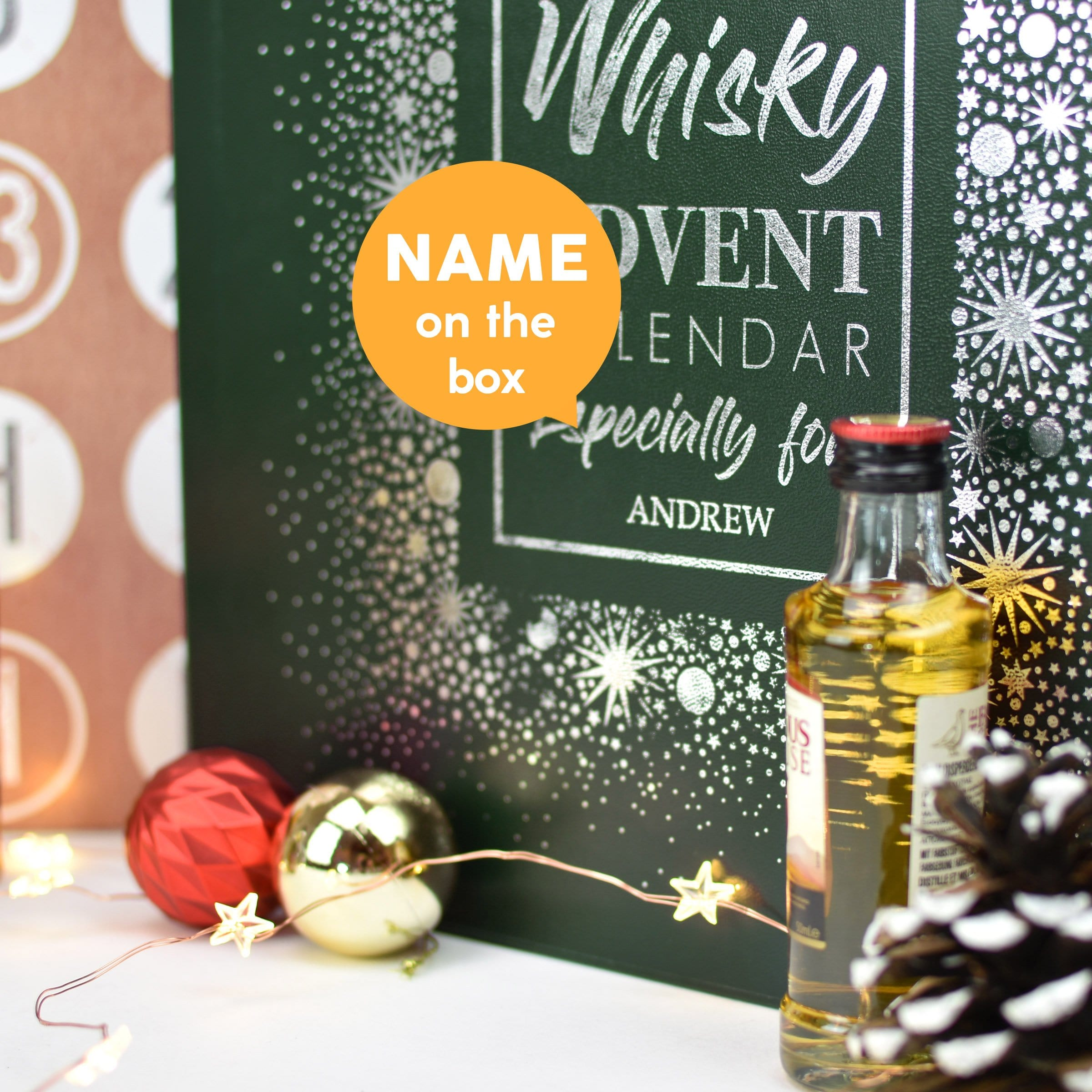 Personalised Whisky Advent Box - stamptastic-uk