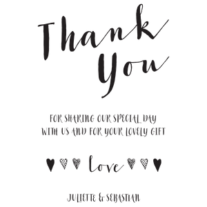 "Calligraphy ""Thank you"" Portrait - stamptastic-uk"