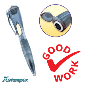 Pen Stamper - Good Work Tick - stamptastic-uk