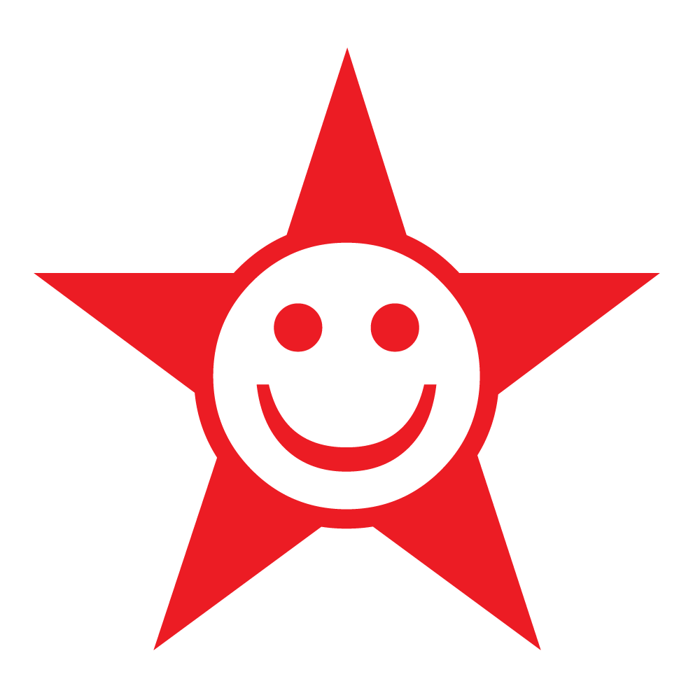 Pen Stamper - Smiley Red Star - stamptastic-uk
