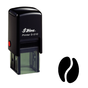 Coffee bean Loyalty Card Self-inking Rubber Stamp (solid coffee bean) - stamptastic-uk