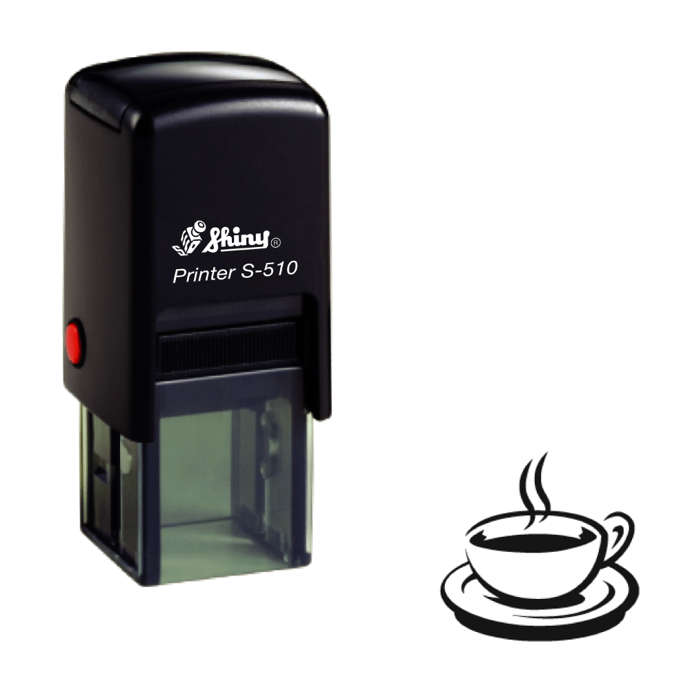 Hot drink Loyalty Card Self-inking Rubber Stamp - stamptastic-uk