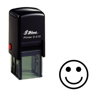 Smiley face Loyalty Card Self-inking Rubber Stamp - stamptastic-uk