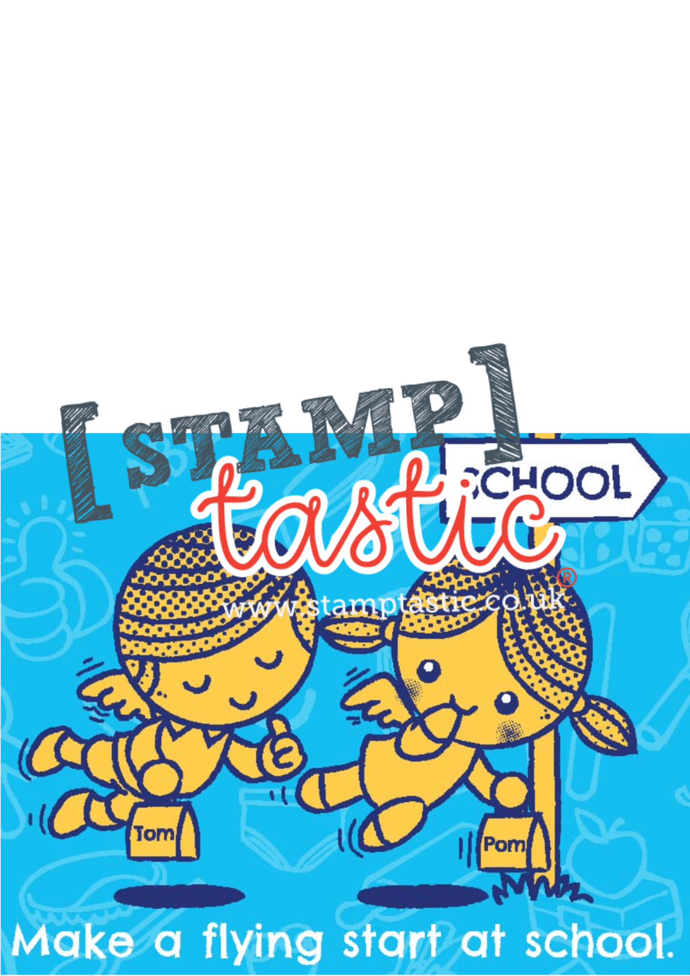 Starting School Free Resource: Make A Card For A Friend Starting School - stamptastic-uk