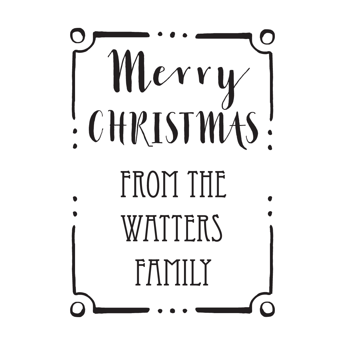 Christmas Border Black And White.Merry Christmas Border Stamp
