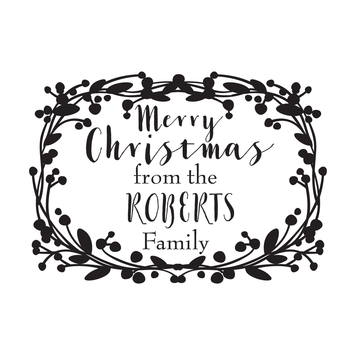 Merry Christmas Wreath - stamptastic-uk