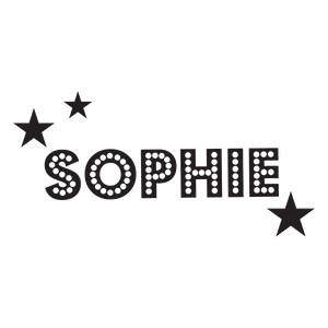 Dotty, Starry Individual Name Stamp - stamptastic-uk