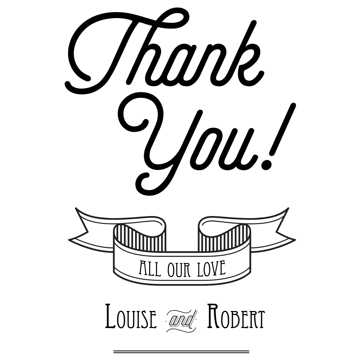 Transparent Thank You Clipart Black And White - Thank You Wedding Cards  Grateful, HD Png Download - vhv
