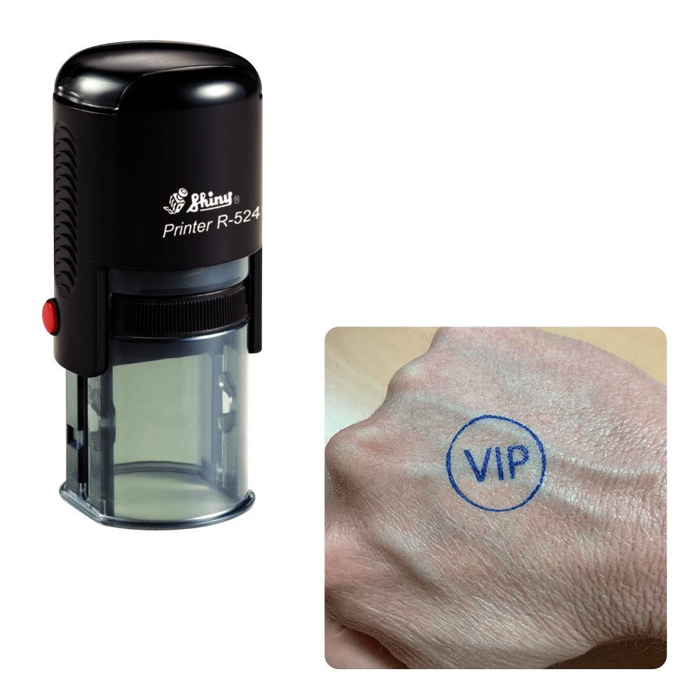 Self Inking Bespoke Custom Logo Hand Stamp - stamptastic-uk