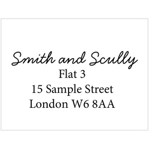 Elegant Address Stamp - stamptastic-uk