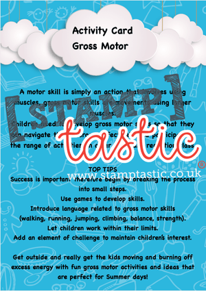 Starting School Free Resource: Gross Motor Skills Activity Card - stamptastic-uk