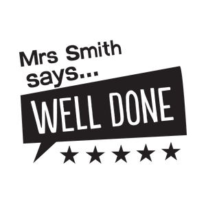 "Teacher Says ""Well Done"" Speech Bubble - stamptastic-uk"