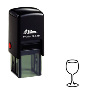Wine Glass Loyalty Card Self-inking Rubber Stamp - stamptastic-uk