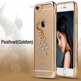 Tomkas Rhinestone Silicone Case For iPhone
