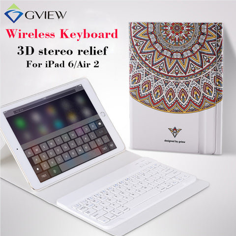 iPad 6/air 2 Tablet Case with Wireless Keyboard