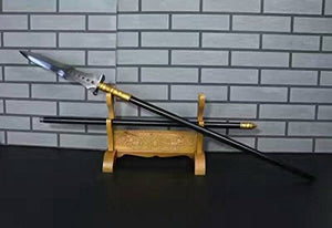 "Chinese ancient cold weapons/Lance/High manganese steel/Black rod/Length 79"" - Chinese sword shop"