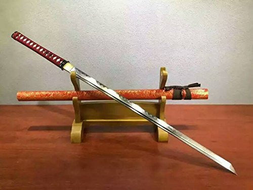 Ninja Sword Katana/T10 high-carbon steel blade/Wood scabbard/Alloy fitted/Length 39